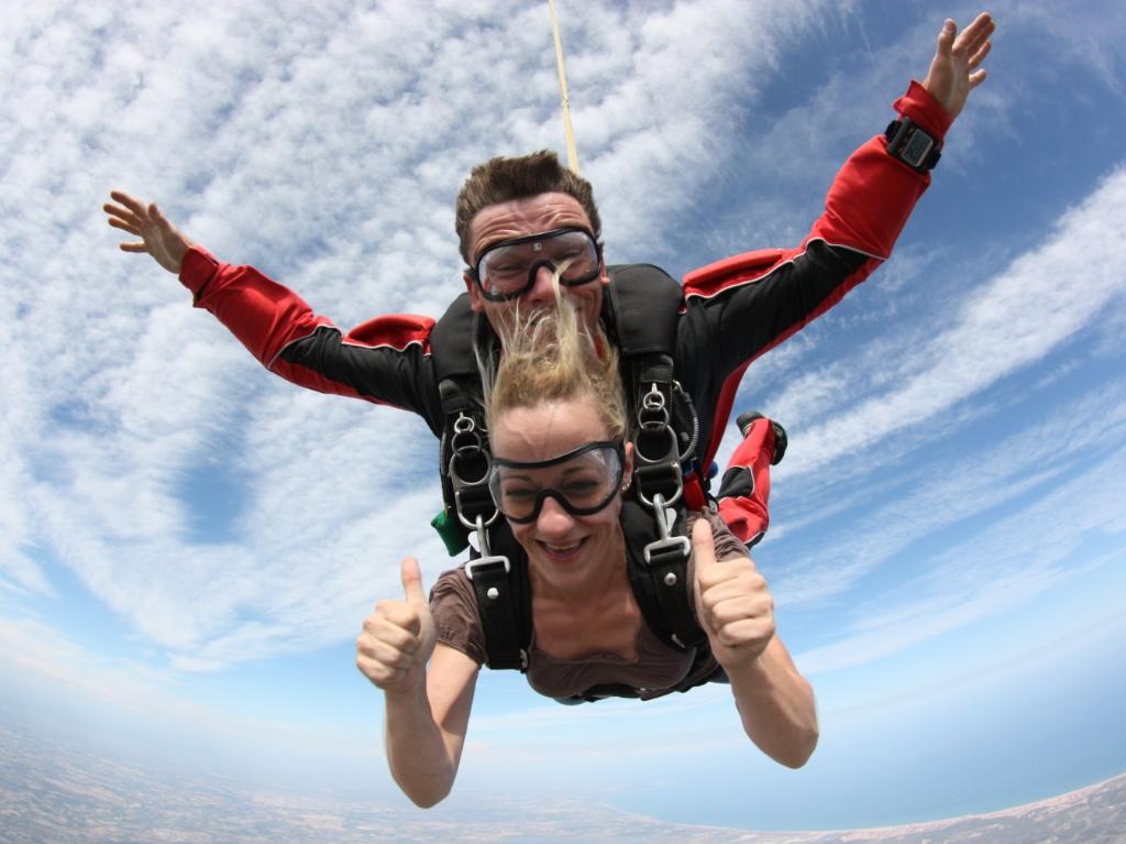 saut en parachute avis